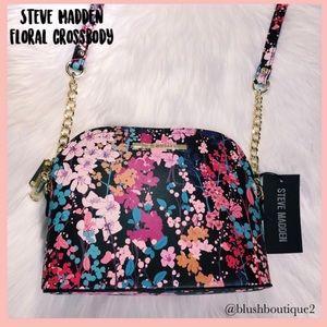 💙NWT Steve Madden Black Floral Crossbody